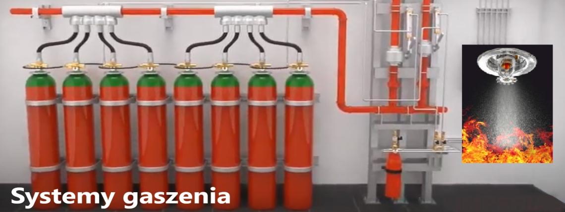 system gaszenia z napisem